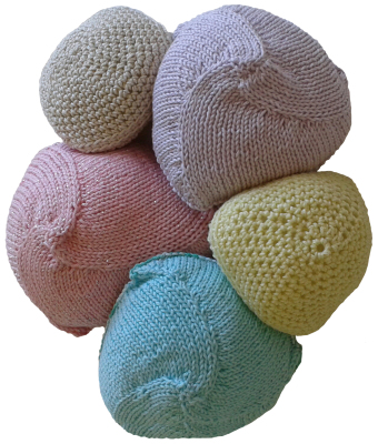 A selection of our Knitted Knockers